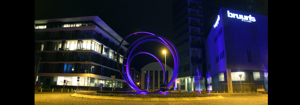 Scuplture by night