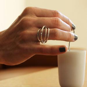 Signature ring, silver